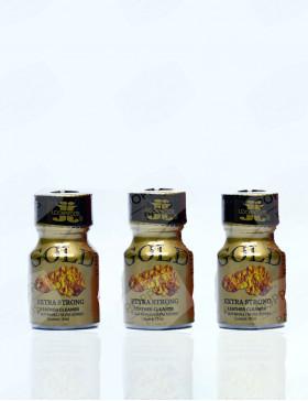 Lot de trois bouteilles de Gold Lockerroom 10 ml