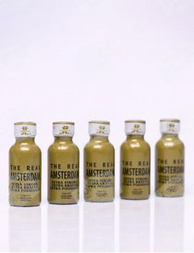 pack de cinq flacons de poppers de 30 ml de real amsterdam