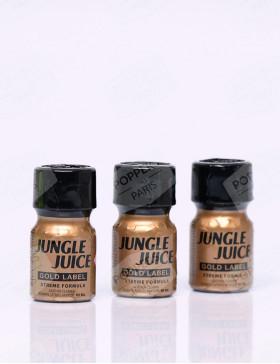 pack de trois flacons de poppers jungle juice gold label 10 ml